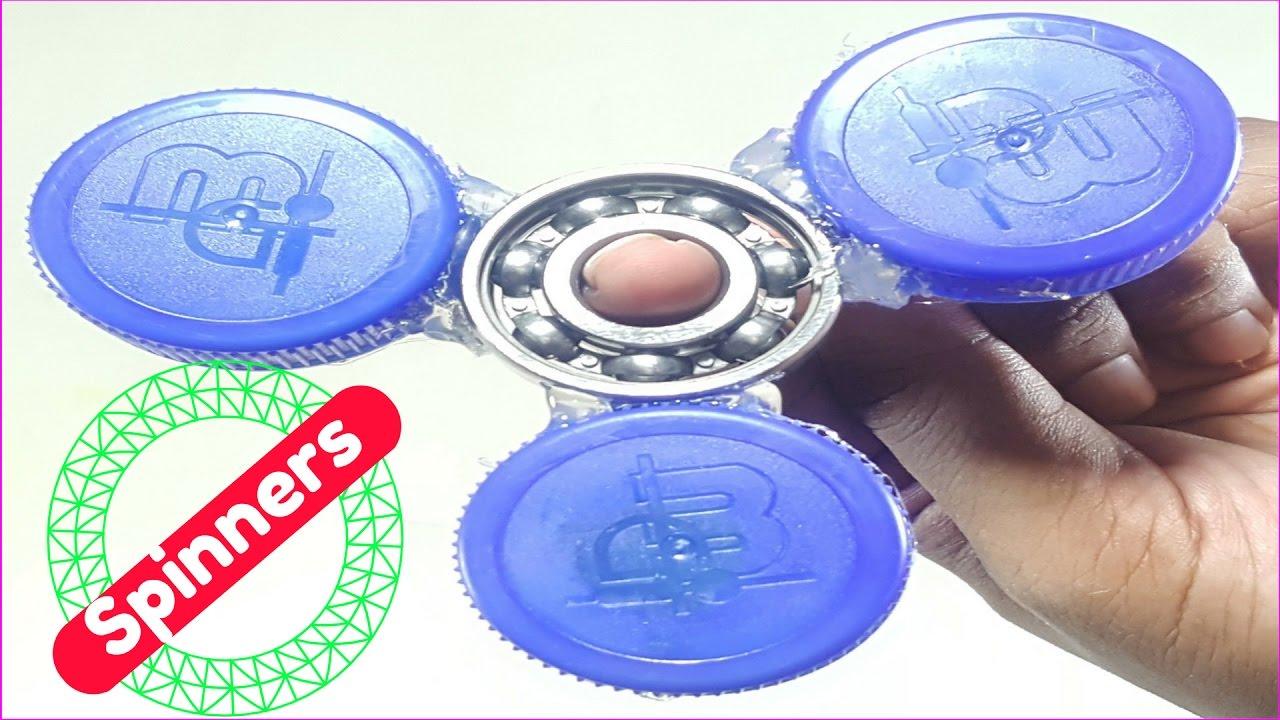 How to make a fidget spinners from bottle cap diy soda for Bottle cap hat diy