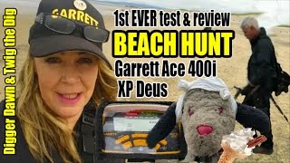 Digger Dawn & Twig the Dig - Garrett Ace 400i & XP Deus Beach Test, Review & Settings (109)