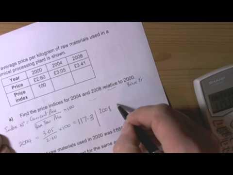 Index Numbers-GCSE Statistics