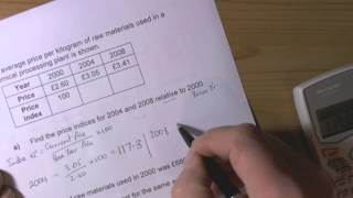 Index Numbers-GCSE Statistics