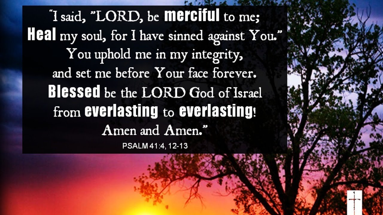 Morning Psalms & Prayer - Psalm 41 - YouTube