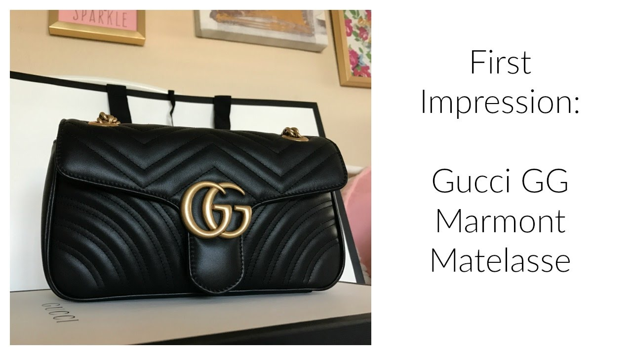 065a431072fb34 First Impression: Gucci GG Marmont - YouTube