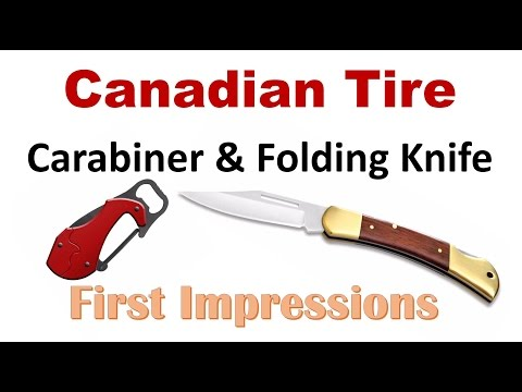Candian Tire OUTBOUND branded knife review  A old school back-lock