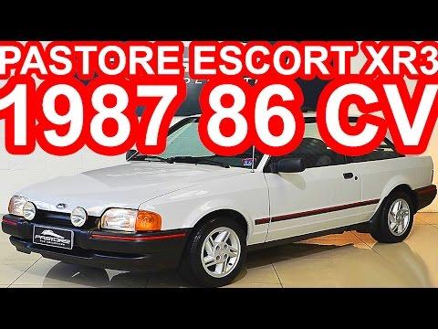 PASTORE Ford Escort XR3 1987 MT5 FWD 1.6 CHT Fórmula Álcool 86 cv 12,9 mkgf 158 kmh #Escort