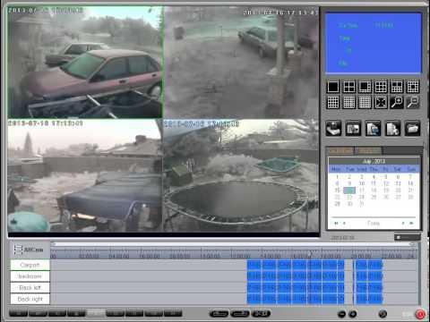 Freaky hail, Weather Clarkson Perth Western Australia 16 07 2013 Surveillance Cameras