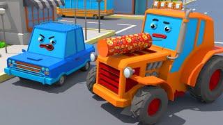 Трактор Играет с Хлопушкой - Городок Машинок - Мультфильмы для детей
