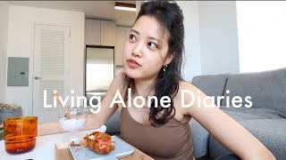 Living Alone Diaries | Casual week of apartment cleaning, dining alone in nyc, anniversary date