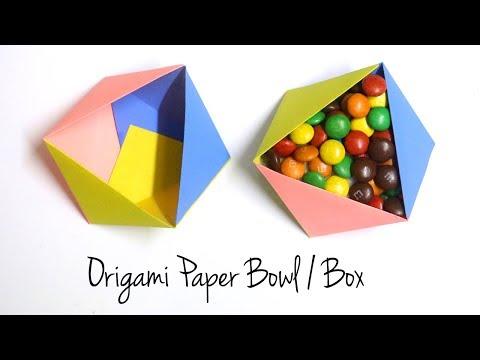Origami Box   Origami Bowl   Paper Box   Easy Paper Craft Ideas