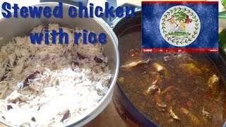 How to cook Stewed Chicken with Rice (The Belizean dish)
