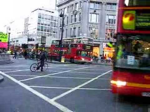 oxford circus london with buses