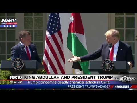FULL PRESS CONFERENCE: President Trump and King Abdullah Spe