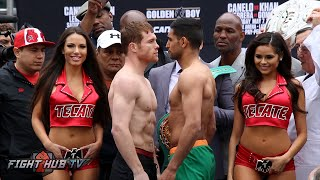 Canelo Alvarez vs. Amir Khan Complete Face Off Video - Canelo vs. Khan