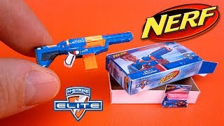 DIY Miniature cav nerf guns Blaster | DollHouse | Nerf war