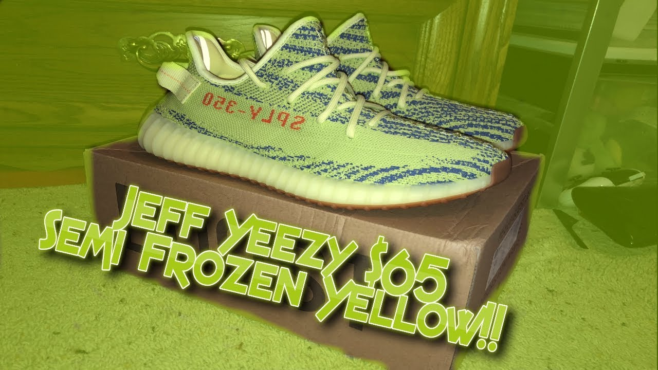 5b61642d128 DHgate Jeff Yeezy  65 Semi Frozen Yellow Unboxing and Review ...