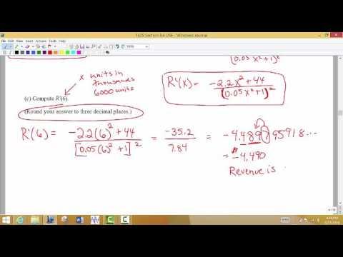 Math 1325 Section 3.4 Part 2 Marginal Revenue
