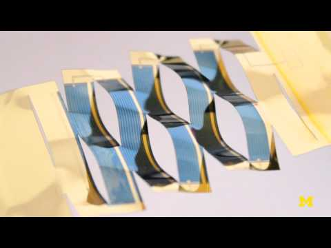 Sun-tracking kirigami solar cells | Michigan Engineering LabLog
