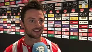 Bart Vriends na Sparta-Jong AZ (5-0): 'Als we grip op de wedstrijd krijgen moeilijk te houden'