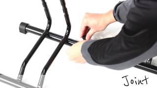 Kb-449b Adjustable Bikes Floor Parking Rack Storage Stand Bicycle