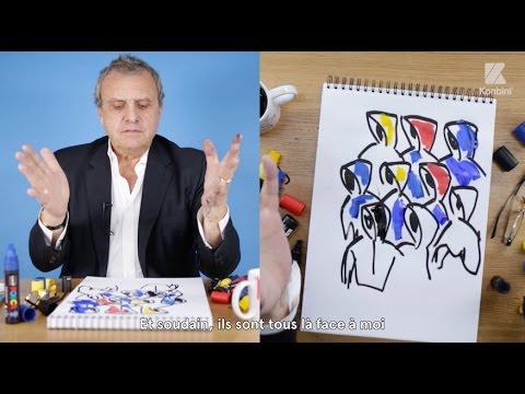 Jean-Charles de Castelbajac répond à nos questions en dessins