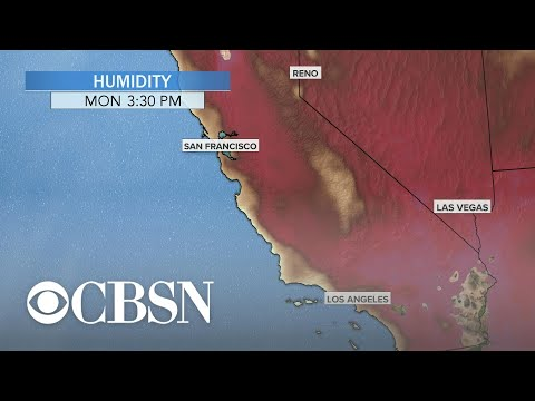 Strong winds fuel raging wildfires across California