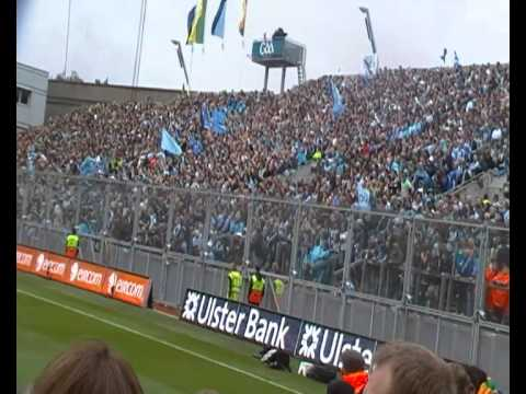 "Hill 16 chants ""Come on you boys in blue"" at the 2011 Football Final"