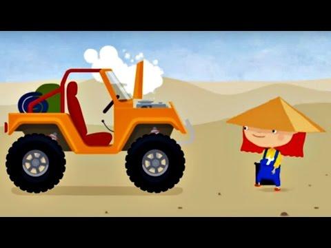 Мультфильмы для детей про машинки и про ремонт  - Доктор Машинкова в пустыне.