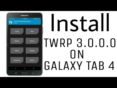Install TWRP Recovery 3 0 0 0 on Galaxy Tab 4 - YouTube