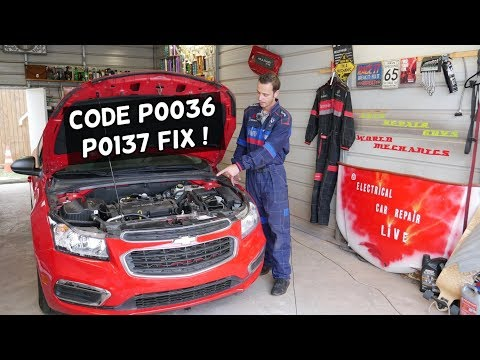 CHEVROLET CRUZE SONIC CODE P0137 P0036. ENGINE LIGHT ON CHEVY CRUZE CHECY SONIC, HOLDEN CRUZE