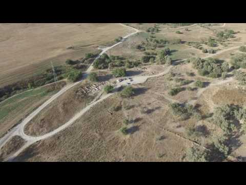 Aerial video clip from drone at end of 2016 season at Tell es-Safi/Gath