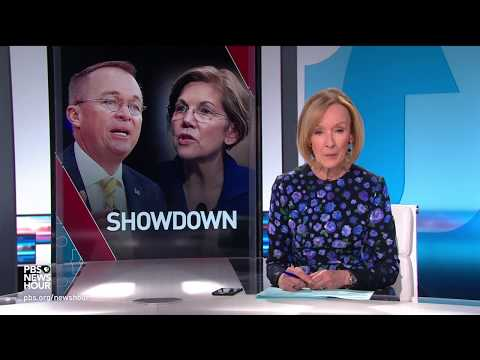 Elizabeth Warren and Mick Mulvaney face off over consumer protection bureau