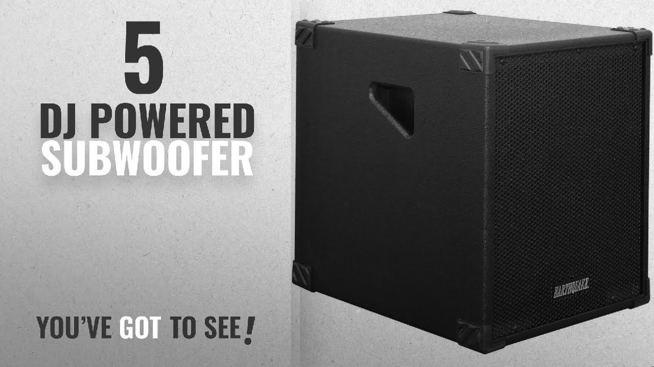 Top 10 Dj Powered Subwoofer [2018]: Earthquake Sound DJ-Quake 12-inch  Subwoofer with Built-In