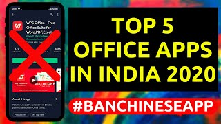 Top 5 Best & Free Office Apps for Android | WPS Office Alternatives in 2020 | #banchineseapp screenshot 2
