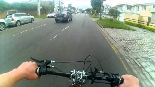 motorized bicycle. Straight pipping/lane splitting and avoiding the police.