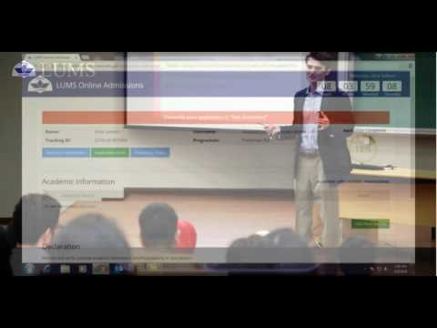How to fill & submit LUMS online application HD