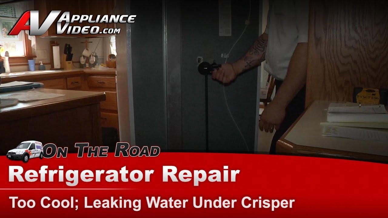 Ge Refrigerator Repair Too Cool Leaking Water Under