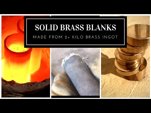 2.1 Kilo Solid Brass Ingot Made into Coin Blanks