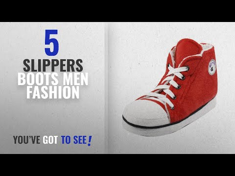 Top 10 Slippers Boots [Men Fashion Winter 2018 ]: Gohom Men's Warm Winter Household Cool Slipper
