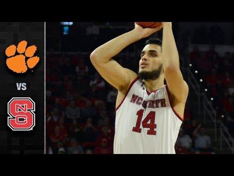 Clemson vs. NC State Basketball Highlights (2017-18)