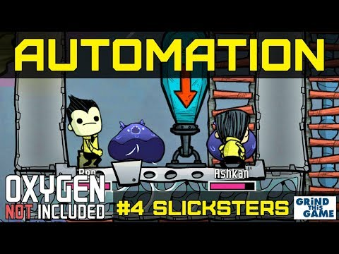 NEW AUTOMATION BASE #4 - Slicksters & Natural Gas Geyser- Oxygen Not Included Automation Upgrade
