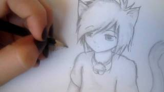 Anime Neko Drawing