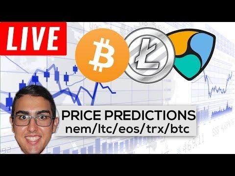 Price Predictions: NEM ($XEM), Litecoin ($LTC), EOS ($EOS), Tron ($TRX), Bitcoin ($BTC) PART 2