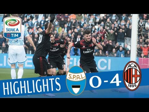 SPAL - Milan 0-4 - Highlights - Giornata 24 - Serie A TIM 2017/18