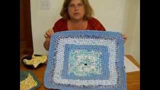 Crochet SQUARE Rag Rug Tutorial Part 2