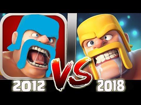 CLASH OF CLANS TARİHİ (2012 vs 2018) !!!