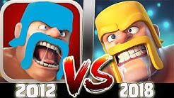 CLASH OF CLANS TARİHİ (2012 vs 2018) !!!