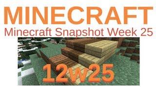 Minecraft Updates - Snapshot 12w25a