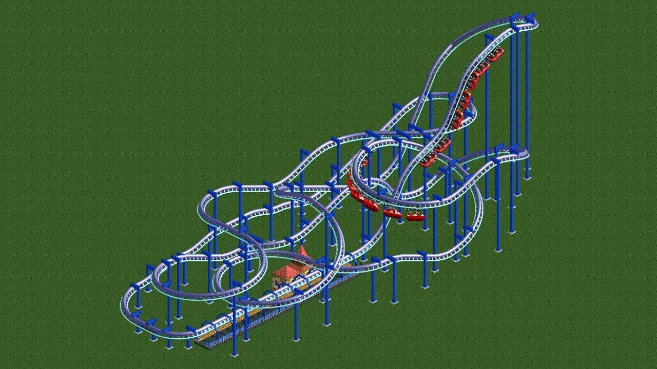 RCT2 - Ride overview - Suspended swinging coaster