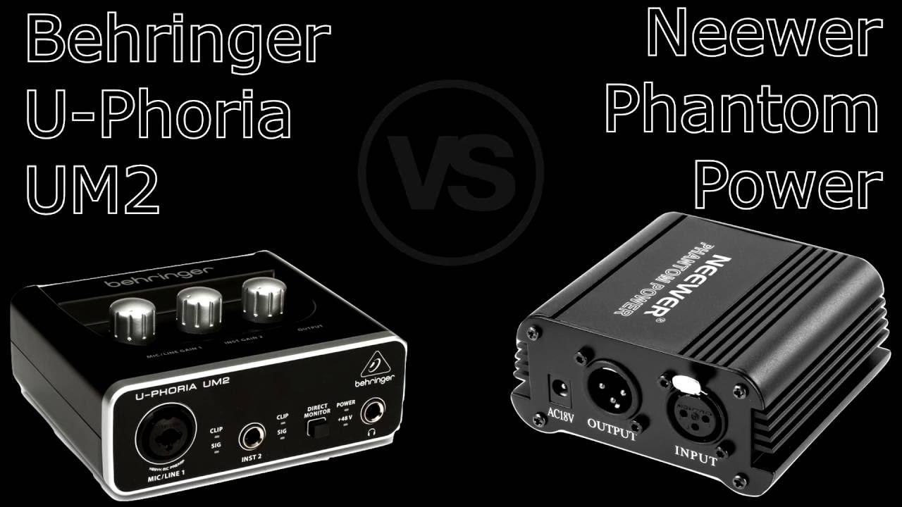 audio interface comparison neewer 48v phantom v s behringer u phoria um2 youtube. Black Bedroom Furniture Sets. Home Design Ideas