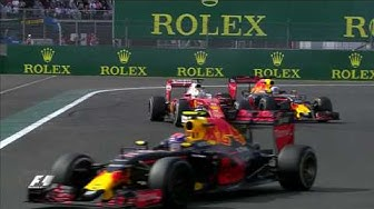 Vettel, Verstappen And Ricciardo Battle In Mexico | Mexican Grand Prix 2016