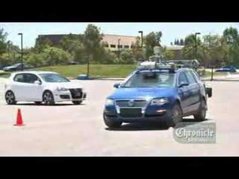 """Stanford robot car """"Junior"""" in action, DARPA Urban Challenge"""